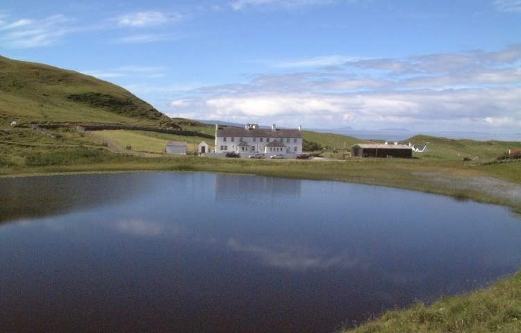 Coastguard Cottages over Loch Cleat
